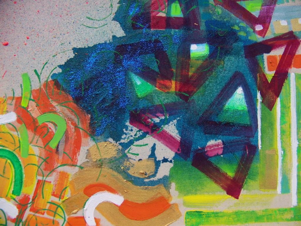 IRENA IZABELA IMANSKA - akryl i fresco na płótnie - 30 cm x40 cm