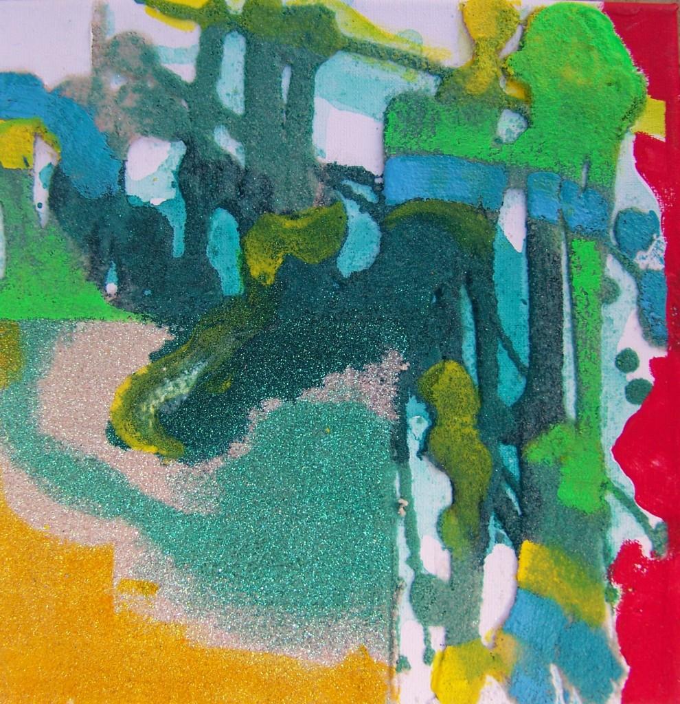 Irena I. Imanska - Acryl, Fresco, Leinwand, 25 X 25 Cm.